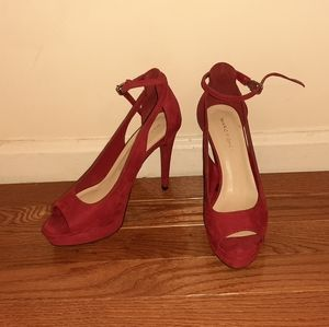 Red 4 inch Marc Fisher heels